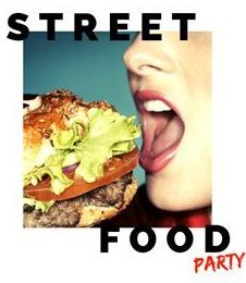 street food party logo