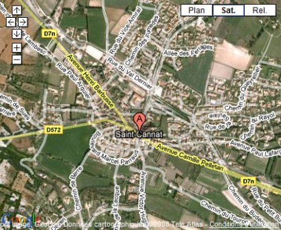 Saint-Cannat sur Google Maps
